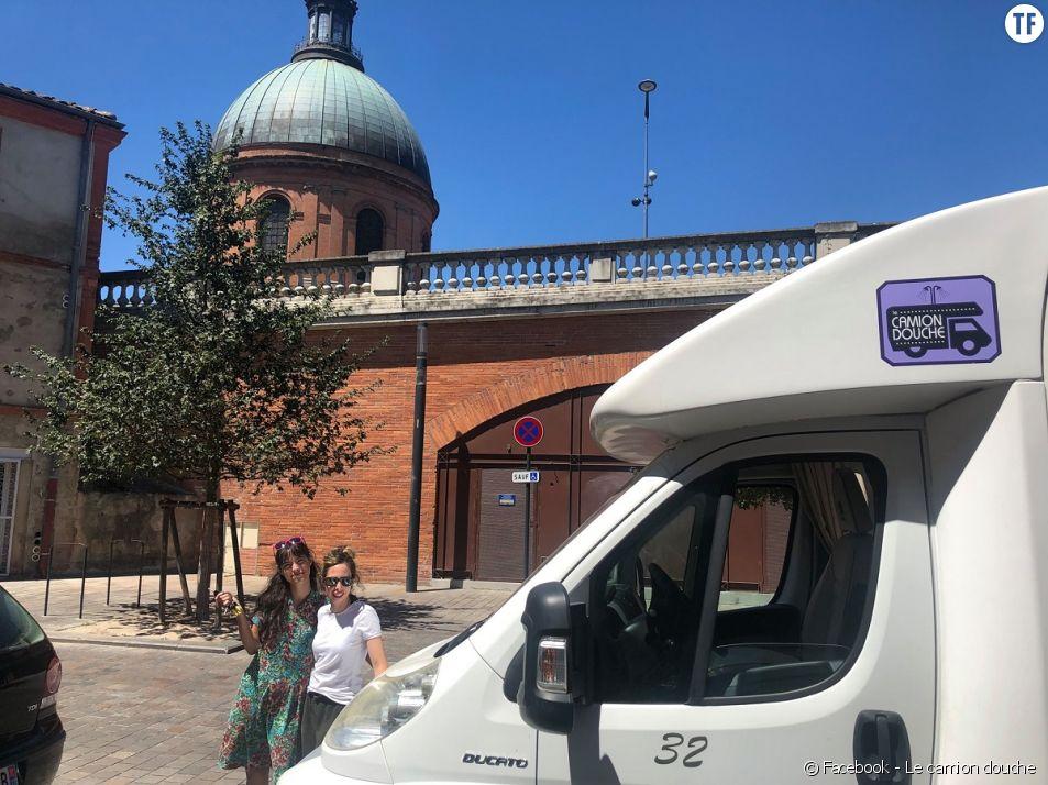 Le camion douche, l'association solidaire de Toulouse.