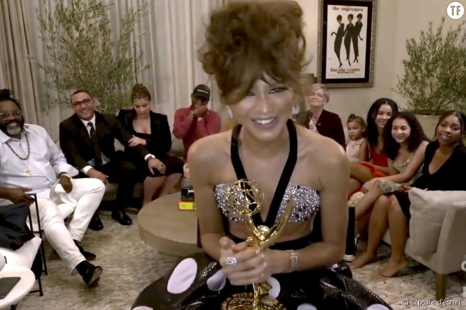 Zendaya en visio pour les Emmy Awards 2020