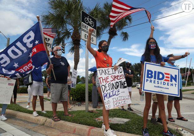 Manifestation anti-Trump à Jupiter en Floride le 8 septembre 2020