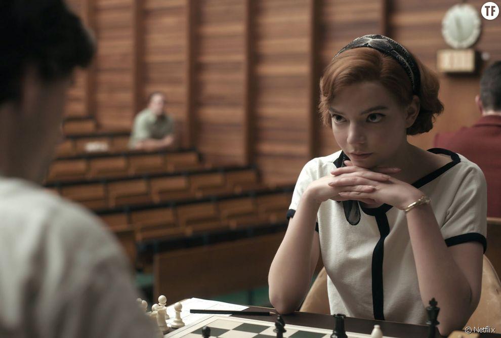 """Beth Harmon dans """"Le jeu de la dame"""""""