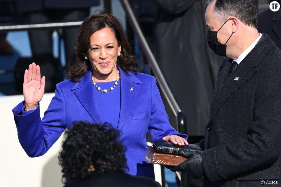 Kamala Harris lors de son serment le 20 janvier 2021
