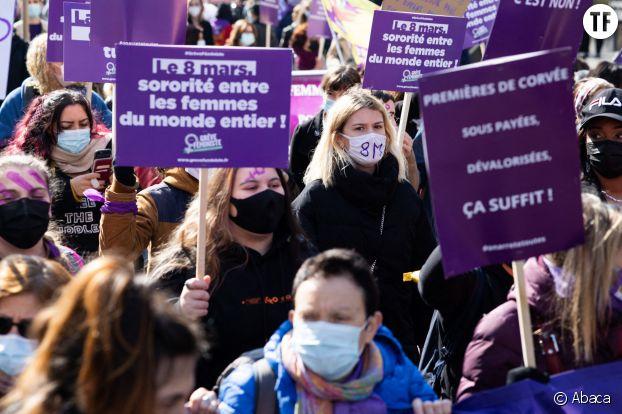 Marche féministe du 8 mars 2021 à Paris