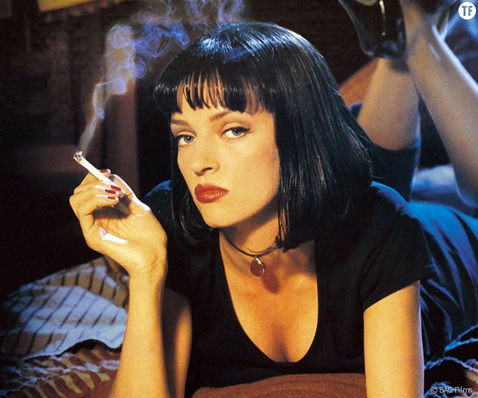 """Mia Wallace, étendard pop de la coupe au carré (""""Pulp Fiction"""")."""