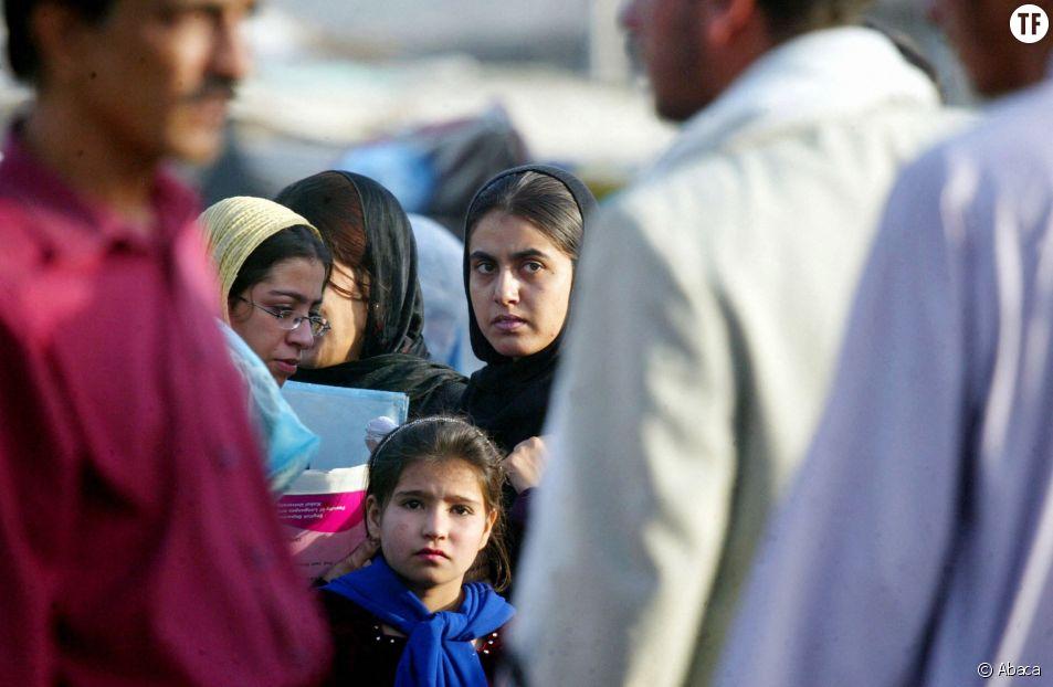 Femmes afghanes dans les rues de Kaboul en septembre 2004