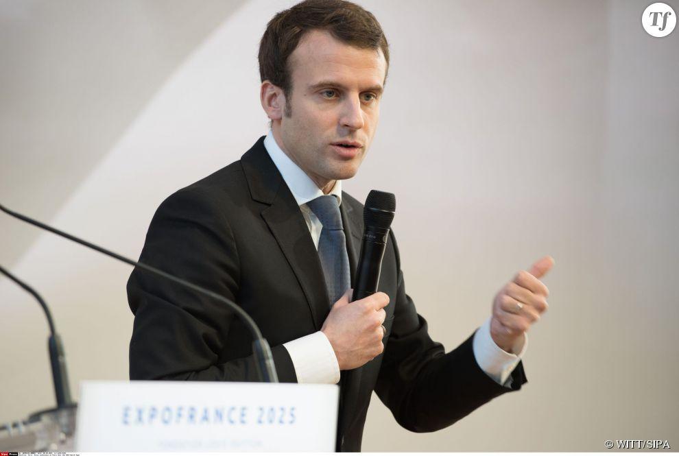 Emmanuel Macron à la Fondation Vuitton en mars 2015
