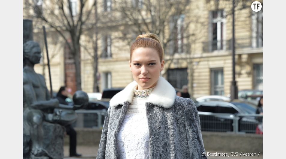 Léa Seydoux pendant la Fashion Week 2015