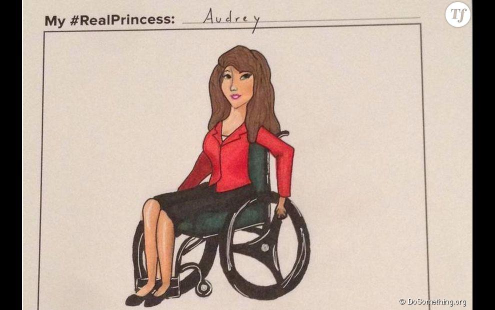 La princesse en fauteuil, le version livrée par Audrey.