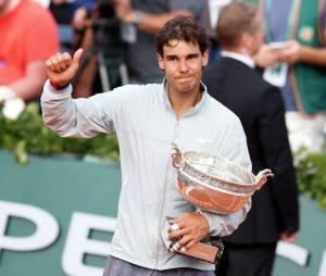 Rafael Nadal lors de sa victoire en 2014.