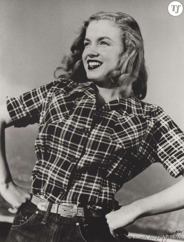 Marilyn Monroe en blue jeans en 1946.
