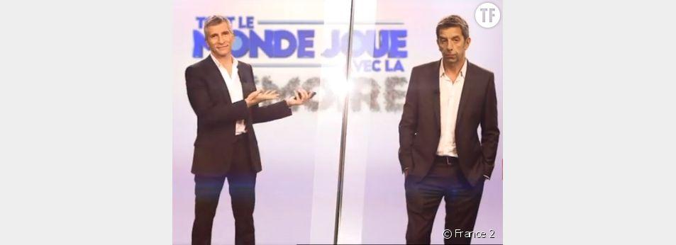 """Nagui et Michel Cymès dans """"Tout le monde joue avec la mémoire"""""""