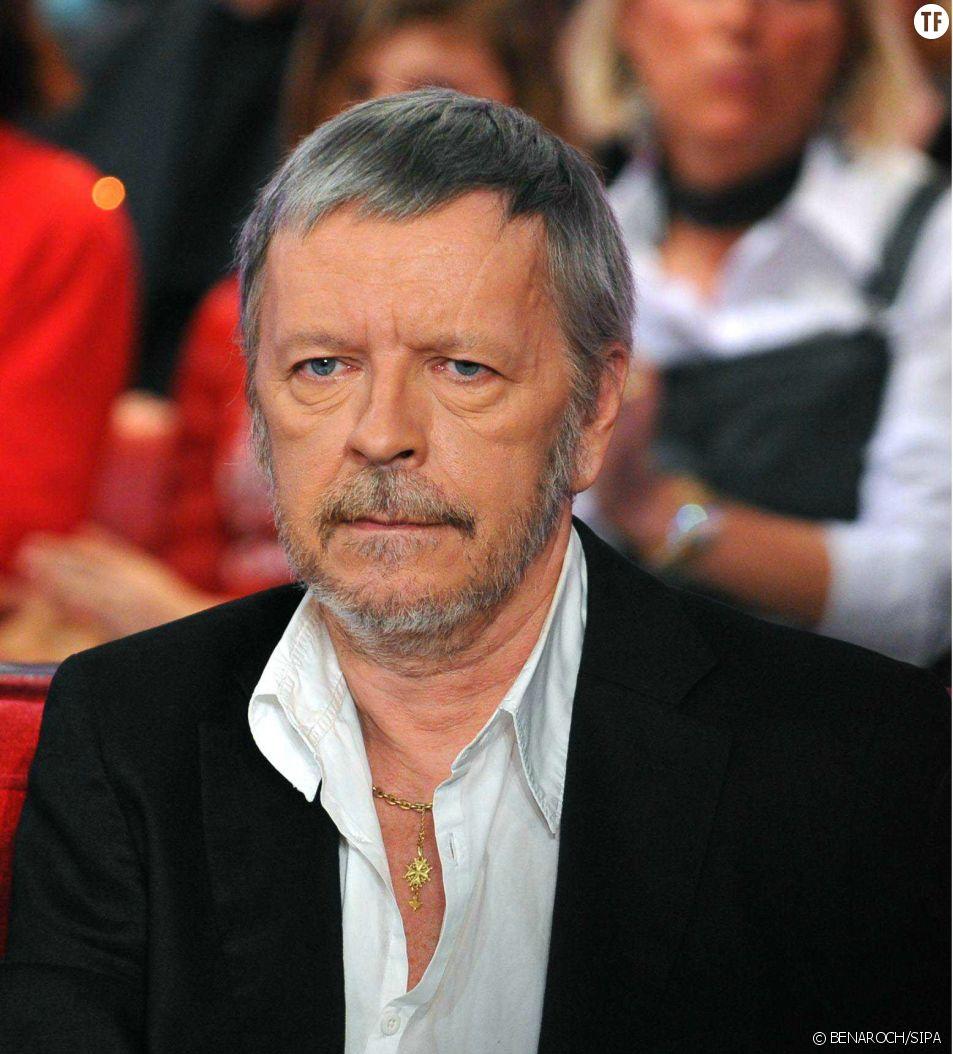 Le chanteur Renaud sur le plateau de Vivement Dimanche en 2010.