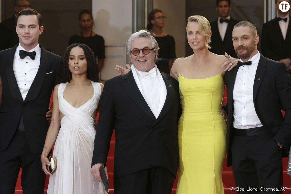 L'équipe du film Mad Max : Fury Road - Nicholas Hoult, Zoe Kravitz, George Miller, Charlize Theron et Tom Hardy