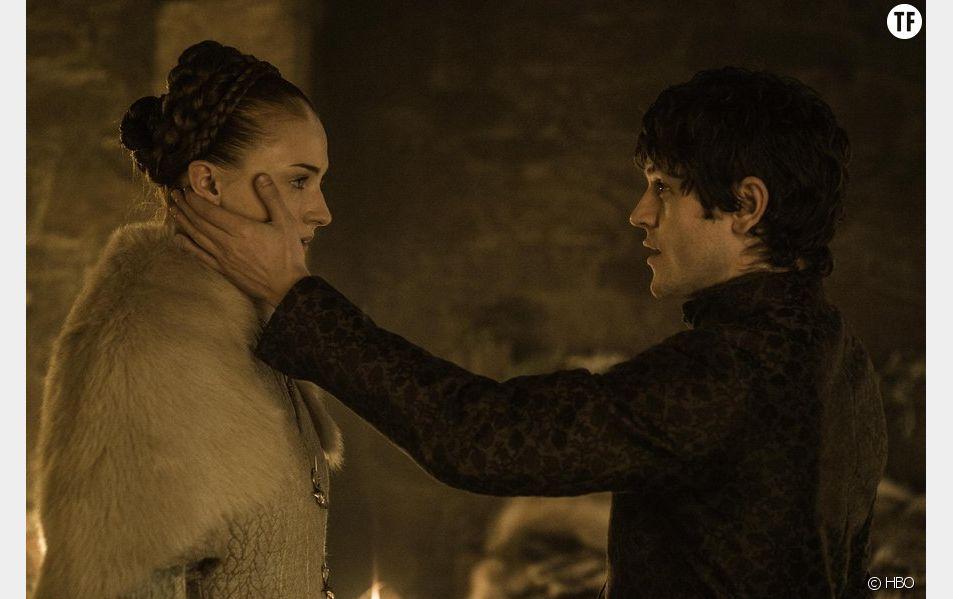 Sansa Stark et Ramsay Bolton dans Game of Thrones saison 5.