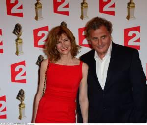 Florence Pernel et Patrick Rotman pour la Ceremonie des Molieres aux Folies Bergeres.