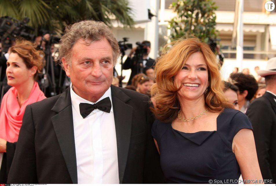 Florence Pernel et son mari Patrick Rotman à Cannes en 2011.