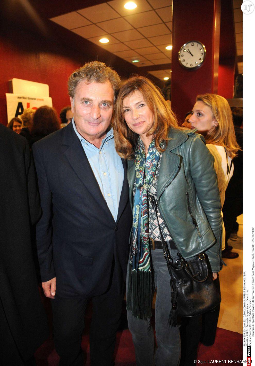 Florence Pernel et Patrick Rotman à Paris en 2012.