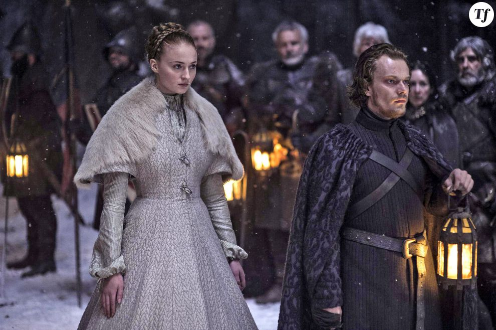 Sansa et Theon dans Game of Thrones.