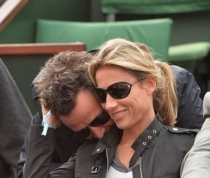 Anne-Sophie Lapix et Arthur Sadoun à Roland-Garros en 2013