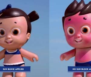 Ces poupées flippantes vont-elle encourager les enfants à mettre de la crème solaire ?