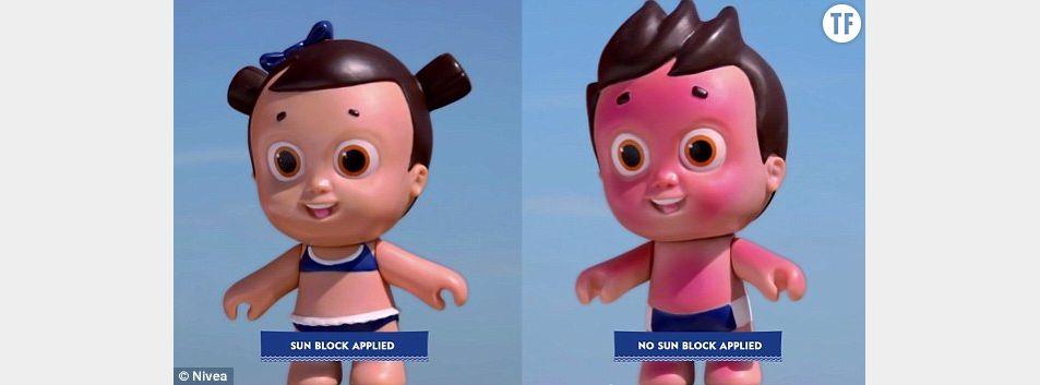 Les poupées anti-coups de soleil de Nivea