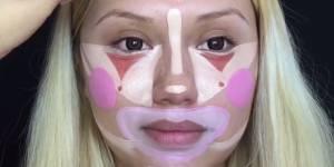 Clown contouring : la tendance make-up encore plus extrême