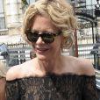 """Meg Ryan arrive au défilé de mode """"George Chakra"""", Haute-Couture Automne-Hiver 2015/2016, à Paris. Le 7 juillet 2015."""