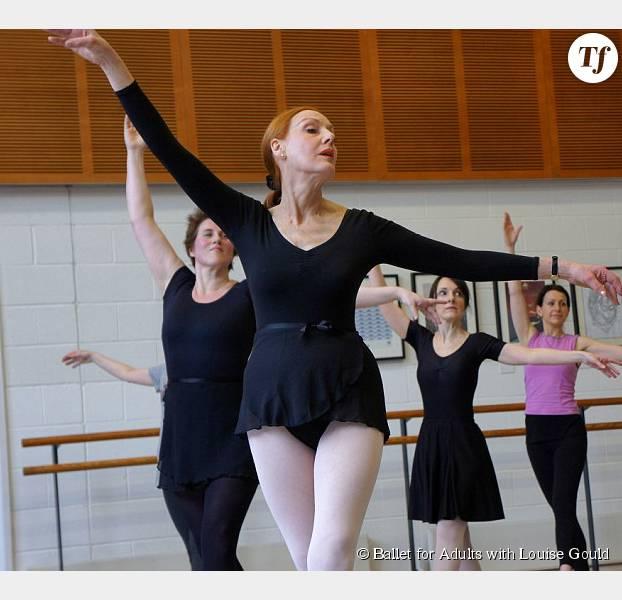 Ilona Johnson-Gibbs en plein cours de ballet