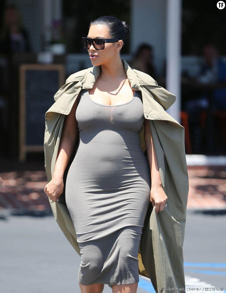 Kim Kardashian a pris près de 9 kilos depuis le début de sa grossesse.