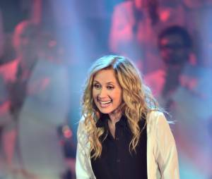 """Lara Fabian. Enregistrement de l'émission """" Les Années Bonheur """" présentée par Patrick Sébastien à La Plaine St Denis le 22 septembre. La diffusion est prévue le 10 octobre."""