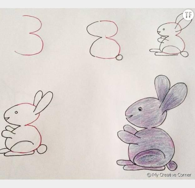 Comment apprendre un enfant dessiner avec des chiffres - Comment dessiner des animaux facilement ...