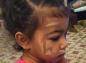 La petite North West maquillée comme sa mère Kim Kardashian : mignon ou choquant ?