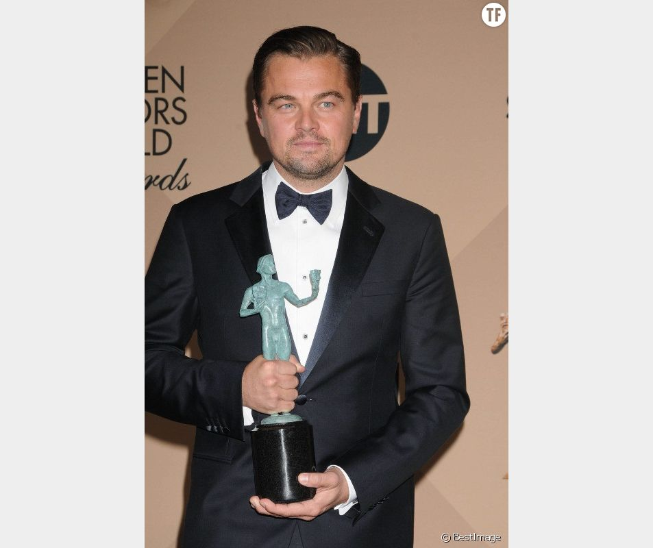 "Leonardo di Caprio aux ""Annual Screen Actors Guild Awards"" le 30 janvier 2016"