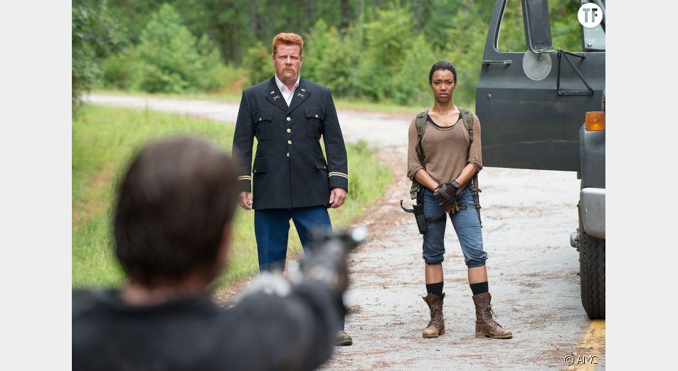 Abraham et Sasha dans The Walking Dead