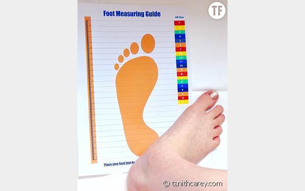 la pointure des pieds