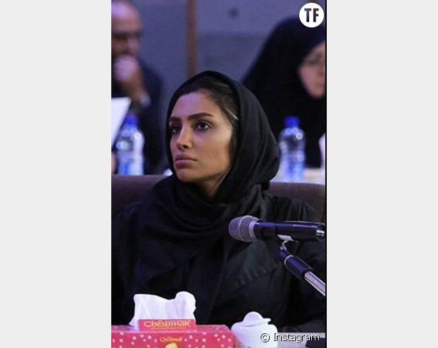 Elham Arab, une mannequin iranienne qui fait partie des huit personnes arrêtées à cause de ses photos Instagram sur lesquelles elle ne porte pas de voile