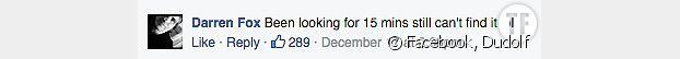 Le commentaire sur Facebook d'un utilisateur désabusé