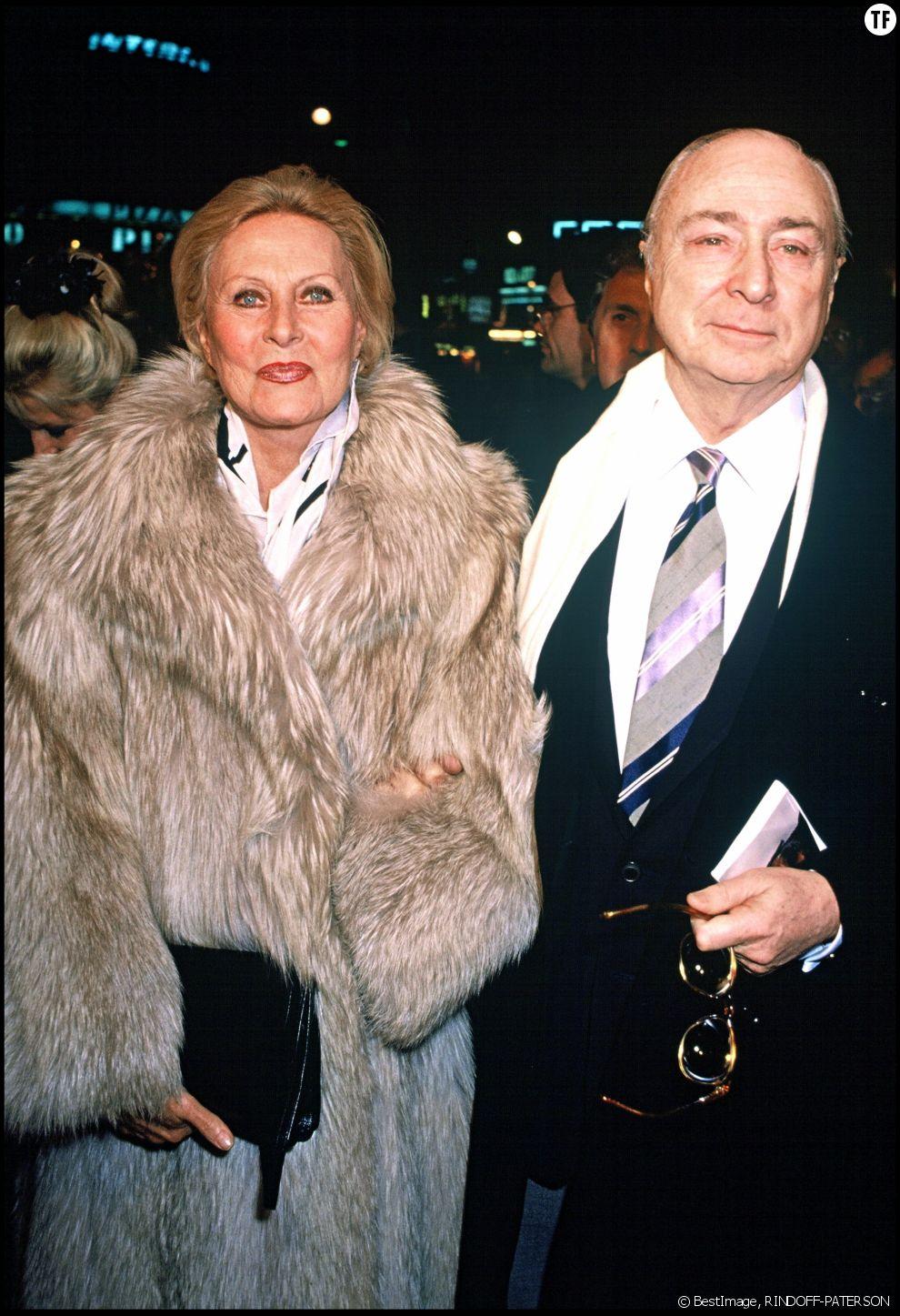 Michèle Morgan et son compagnon Gérard Oury en 1989