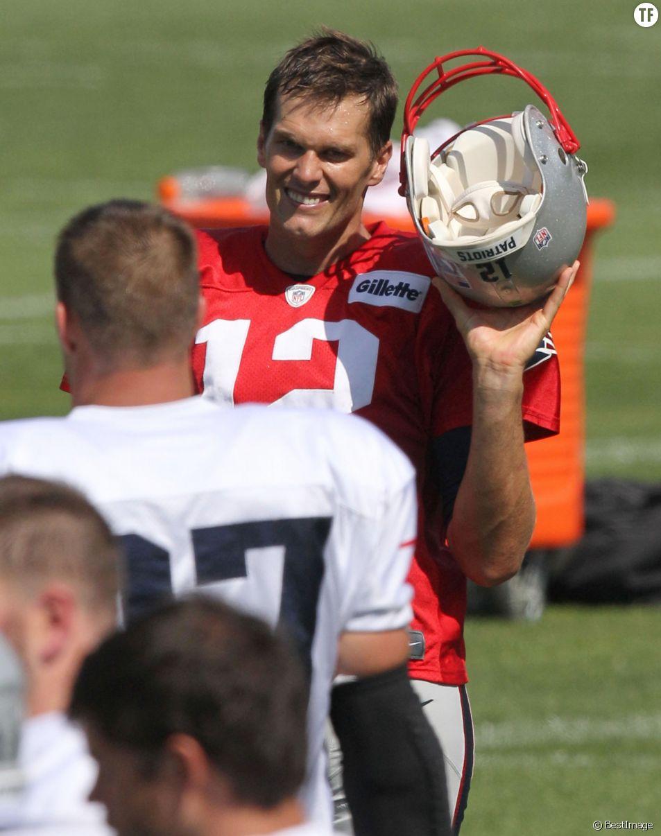 Tom Brady à la fin de son entraînement avec les Patriots  en août 2015