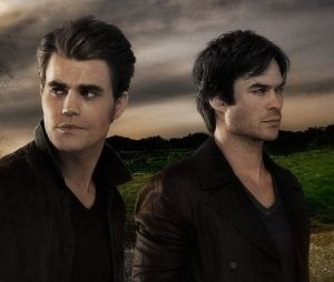 Stefan et Damon Salvatore dans The Vampire Diaries saison 8