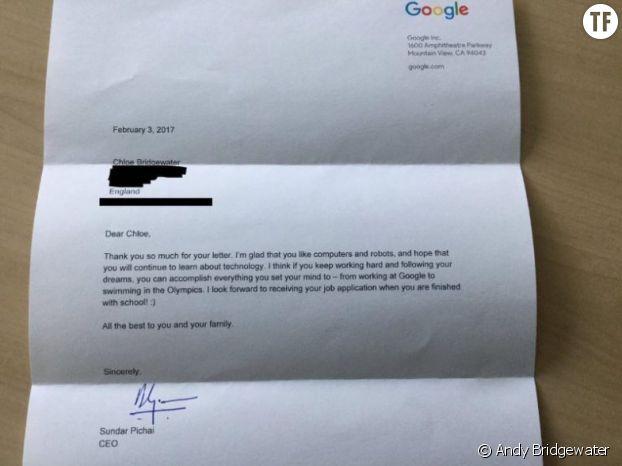 La réponse du patron de Google à Chloe
