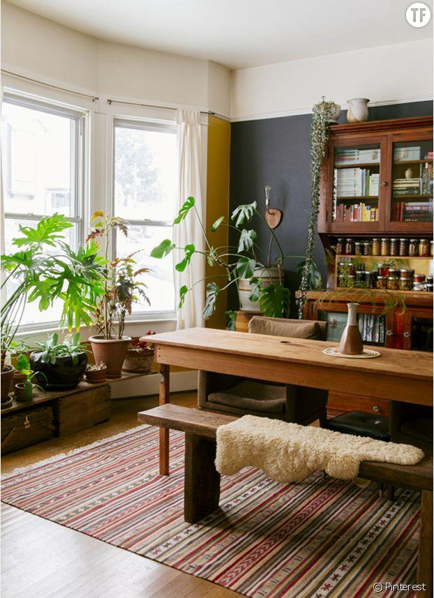 Déco jungle urbaine : salle à manger