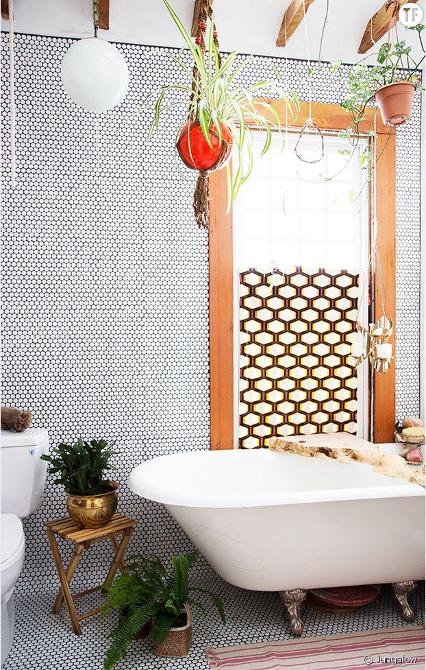 Déco jungle urbaine : salle de bain