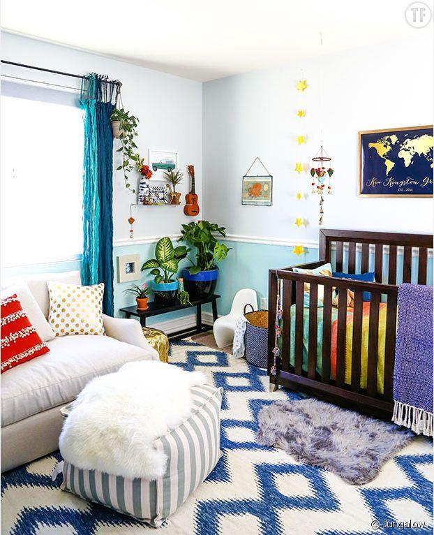 Déco jungle urbaine : chambre d'enfant