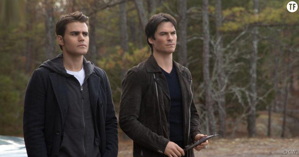 Stefan et Damon Salvatore dans la saison 8 de The Vampire Diaries