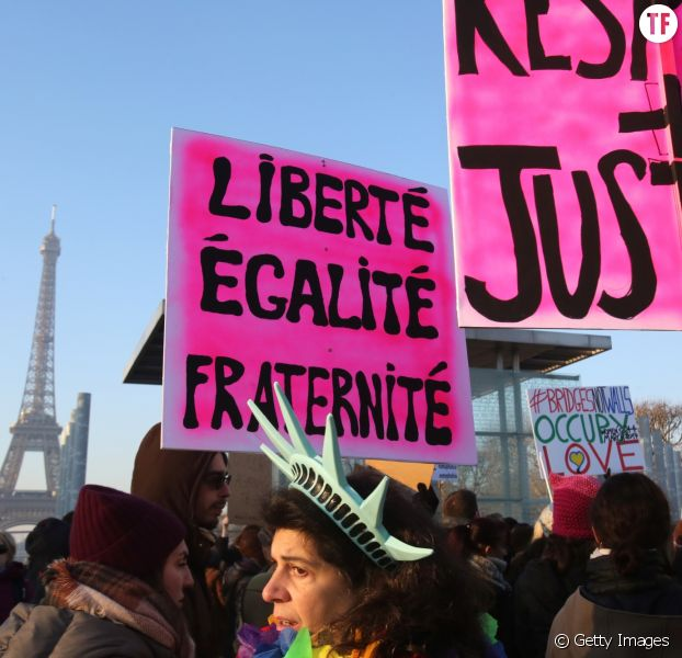 Des manifestantes à la Women's March de Paris, le 21 janvier 2017