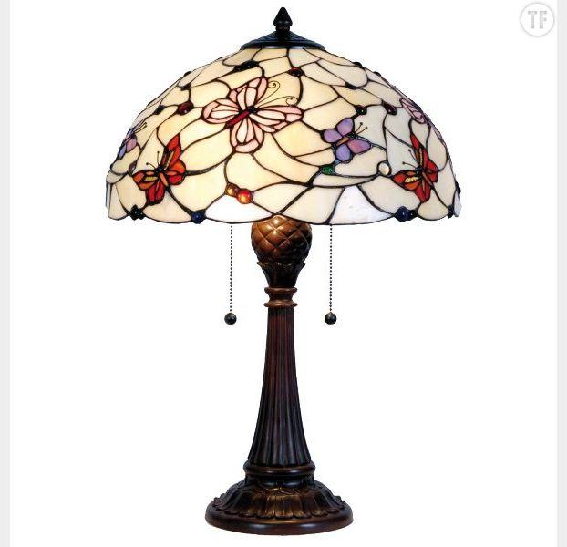 Lampe papillons Tiffany