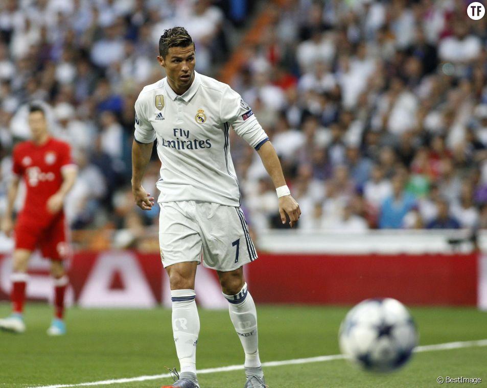 Cristiano Ronaldo lors du quart de finale retour de la Ligue des champions, Real Madrid - Bayern Munich