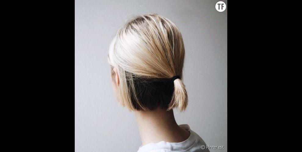 Une demi queue basse sur cheveux courts terrafemina - Demi queue de cheval ...