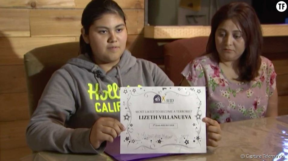 "La jeune Lizeth Villanueva et son diplôme de ""terroriste en devenir"