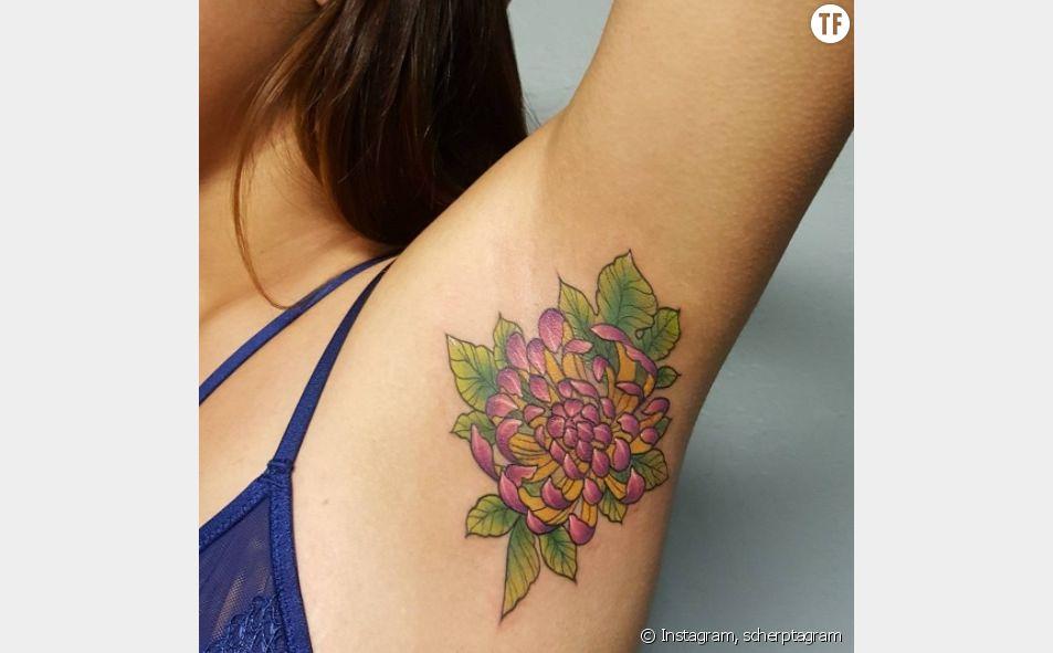 Le tatouage d'aisselle : la nouvelle tendance qui affole Instagram